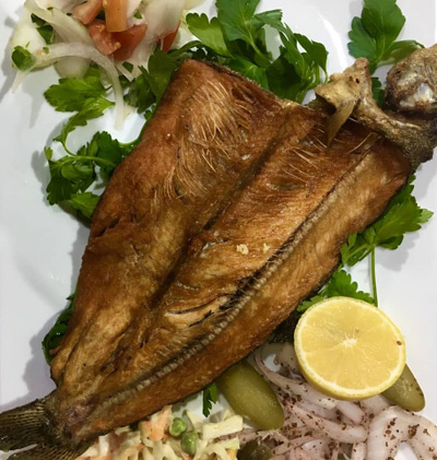 ماهی سوخاری خوشمزه در سمنان