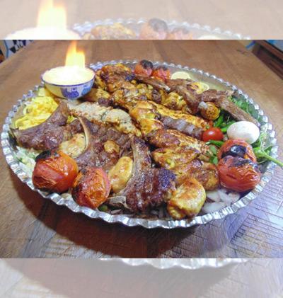 سینی کباب مخصوص در سمنان